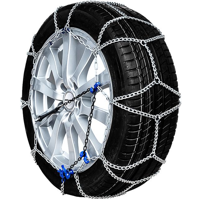 Chaussette neige textile pneu 235//45R18 excellente protection de la jante Valise comprenant 2 chaines textile et 1 paire de gants